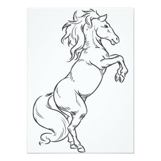 Bosquejo del semental o del caballo Prancing Invitacion Personalizada