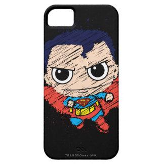 Bosquejo del superhombre de Chibi iPhone 5 Case-Mate Coberturas