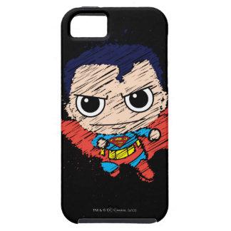Bosquejo del superhombre de Chibi iPhone 5 Carcasas