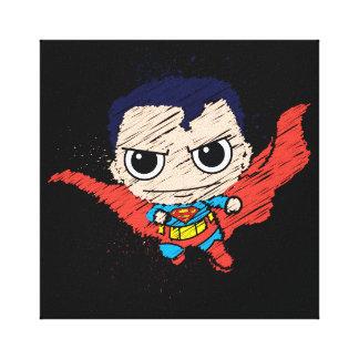 Bosquejo del superhombre de Chibi Impresión De Lienzo