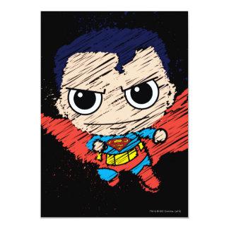 """Bosquejo del superhombre de Chibi Invitación 5"""" X 7"""""""