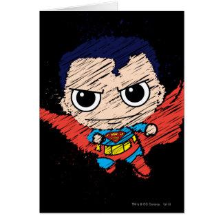 Bosquejo del superhombre de Chibi Tarjeta De Felicitación