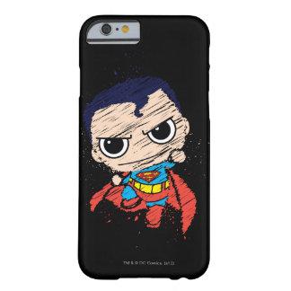 Bosquejo del superhombre de Chibi - vuelo Funda De iPhone 6 Barely There