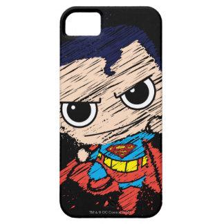Bosquejo del superhombre de Chibi - vuelo iPhone 5 Case-Mate Funda