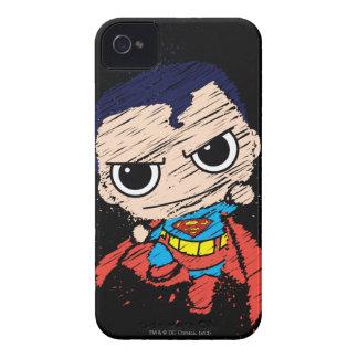 Bosquejo del superhombre de Chibi - vuelo iPhone 4 Case-Mate Coberturas