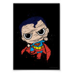 Bosquejo del superhombre de Chibi - vuelo Póster