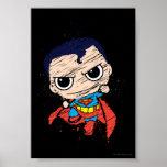 Bosquejo del superhombre de Chibi - vuelo Posters