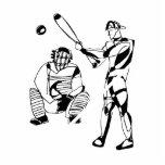 Bosquejo del talud del béisbol esculturas fotográficas