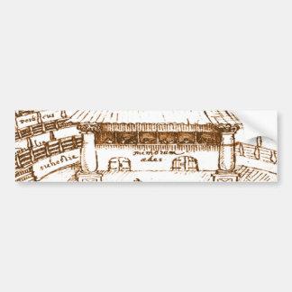 Bosquejo del teatro del cisne de DeWitt Etiqueta De Parachoque
