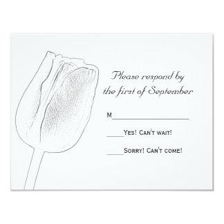 """Bosquejo del tulipán que casa la tarjeta de la invitación 4.25"""" x 5.5"""""""