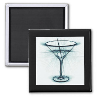 Bosquejo del vidrio de Martini Imán Cuadrado