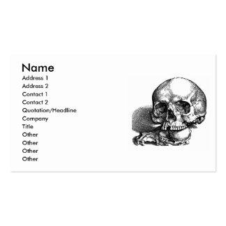 Bosquejo del vintage del cráneo y de las quijadas tarjetas personales