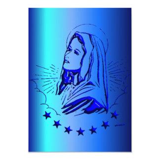 Bosquejo del Virgen María bendecido en azul Comunicados Personales