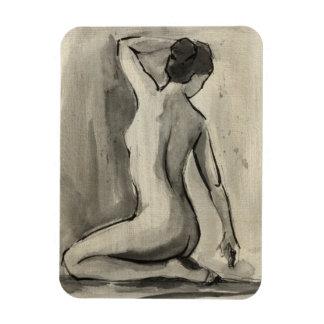 Bosquejo desnudo del cuerpo femenino de Ethan Imán Flexible