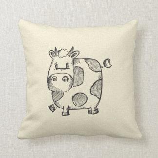 Bosquejo divertido de la vaca almohada