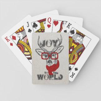 """Bosquejo divertido fresco de los ciervos """"alegría cartas de póquer"""