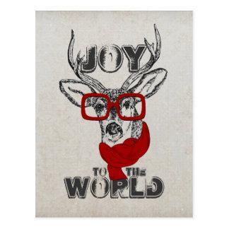"""Bosquejo divertido fresco de los ciervos """"alegría tarjetas postales"""