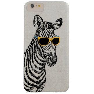 Bosquejo divertido lindo fresco de la cebra con funda barely there iPhone 6 plus