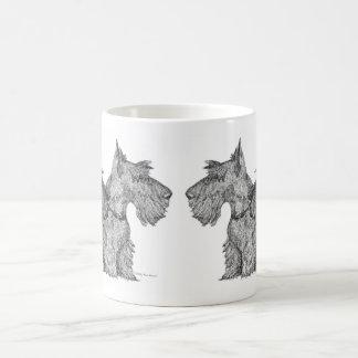 Bosquejo escocés curioso de la pluma y de la tinta taza de café