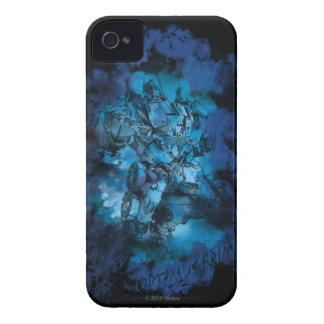 Bosquejo estilizado primero 2 de Optimus iPhone 4 Fundas