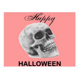 Bosquejo femenino del gráfico del cráneo del tarjeta postal