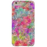 Bosquejo floral del dibujo de la acuarela rosada funda de iPhone 6 slim