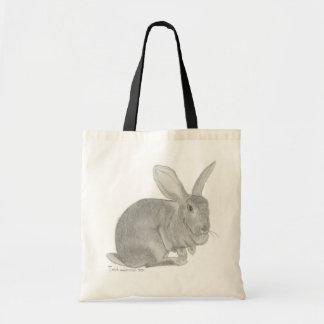 Bosquejo gigante flamenco del conejo bolsa tela barata