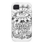 Bosquejo gitano de la reina Case-Mate iPhone 4 carcasa