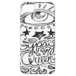 Bosquejo gitano de la reina iPhone 5 protector