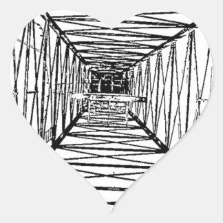 Bosquejo interior del aparejo de taladro del aceit calcomanía corazón personalizadas