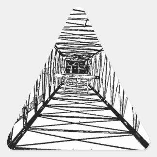Bosquejo interior del aparejo de taladro del pegatina triangular