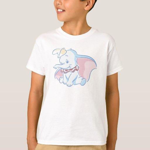 Bosquejo lindo de Dumbo Playera