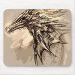 Bosquejo Mousepad del dragón Alfombrillas De Ratones