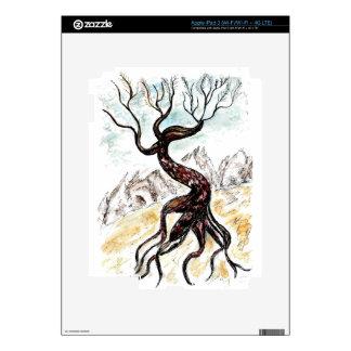 Bosquejo muerto del árbol iPad 3 pegatinas skins
