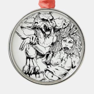Bosquejo original y diseño del MÚN artista del Adorno Navideño Redondo De Metal