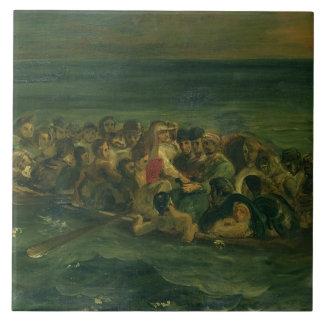 Bosquejo para el naufragio de Don Juan, 1839 (véas Azulejo Cuadrado Grande