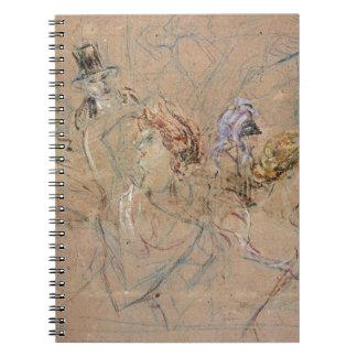 """Bosquejo para """"en la bola enmascarada"""", c.1892 (co spiral notebook"""