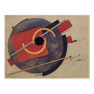 Bosquejo preliminar para un poster de El Lissitzky Tarjetas Postales