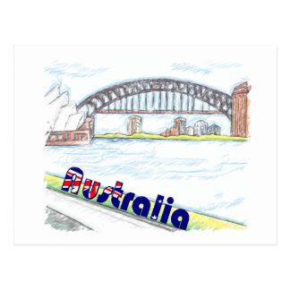 Bosquejo - puerto australiano postal