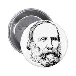 Bosquejo realista de Giuseppe Garibaldi Pin Redondo 5 Cm
