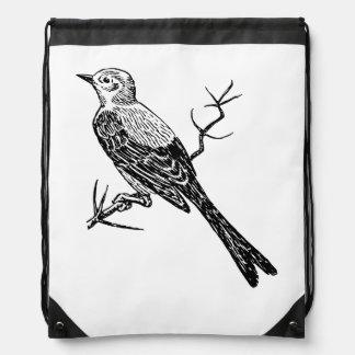 Bosquejo realista del pájaro de Scissortail Mochila