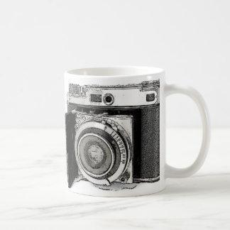 Bosquejo retro del dibujo de la fotografía de la c taza