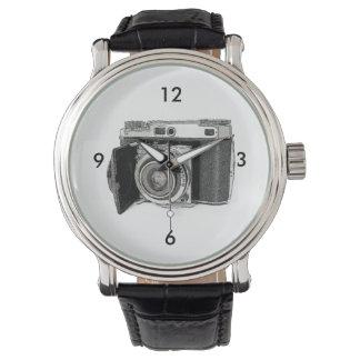 Bosquejo retro del dibujo de la fotografía de la relojes