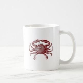 Bosquejo rojo malhumorado de sensación del cangrej tazas de café