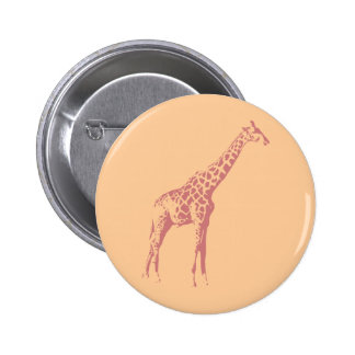 Bosquejo rosado de la jirafa pins