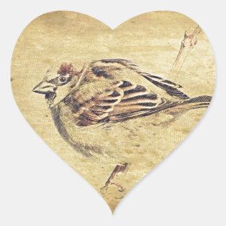 Bosquejo rústico del lápiz de un pájaro salvaje