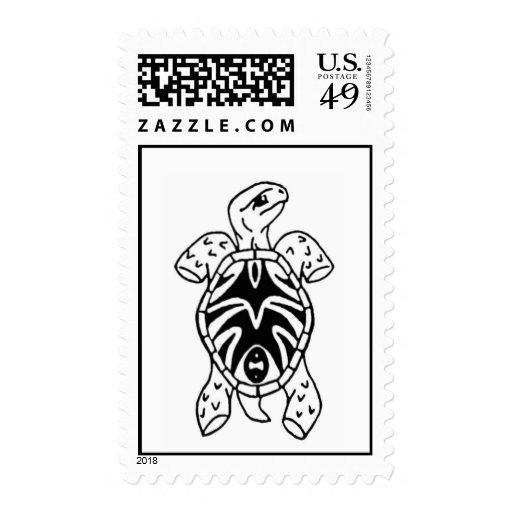 bosquejo tribal de la tortuga sello