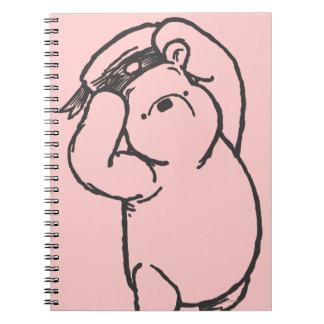Bosquejo Winnie the Pooh 1 Libreta Espiral