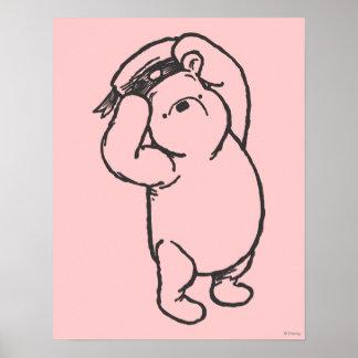 Bosquejo Winnie the Pooh 1 Póster