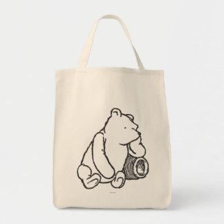 Bosquejo Winnie the Pooh 2 Bolsa Tela Para La Compra